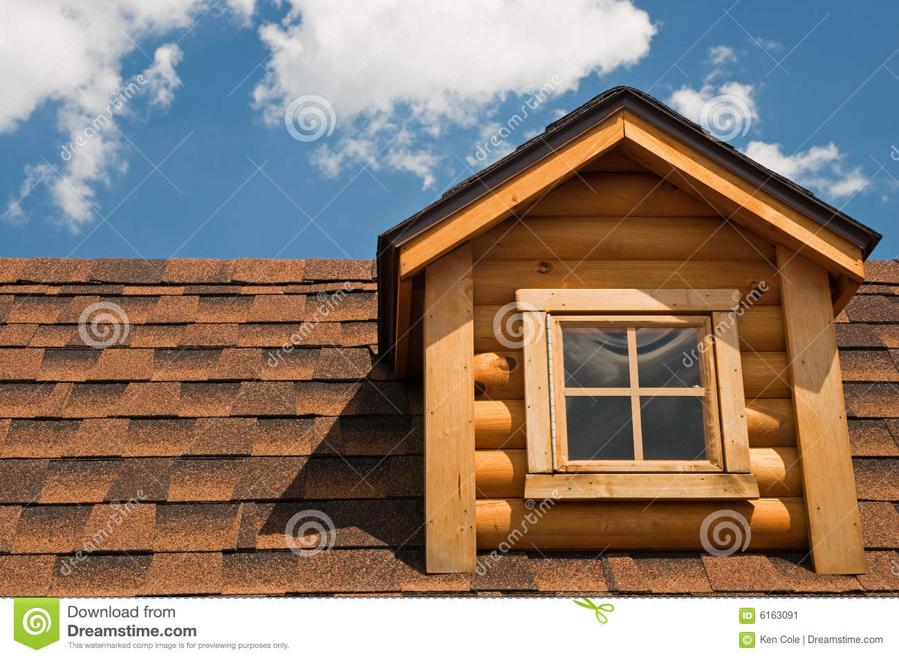 Log Cabin Gable And Roof Stock Image Image 6163091