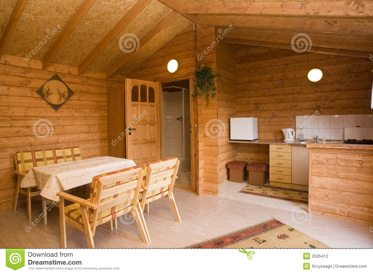 Log Cabin Interior Stock Photography - Image: 2505412