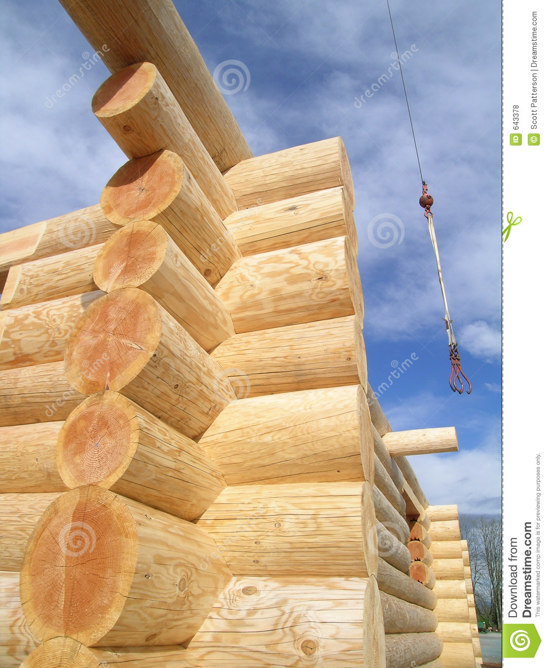 Log cabin joint royalty free stock photos image 643378 for Log construction