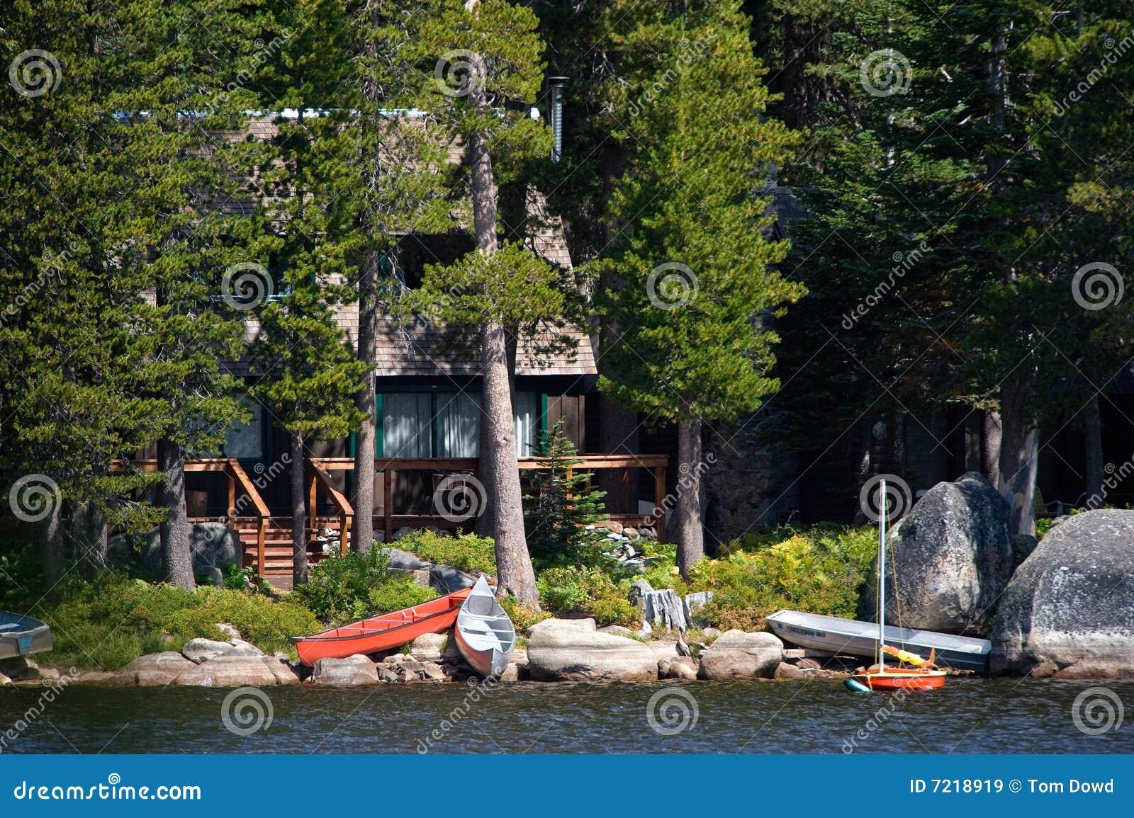Log cabin on a lake royalty free stock photography image 7866317 - Log Cabin By Lake Royalty Free Stock Images