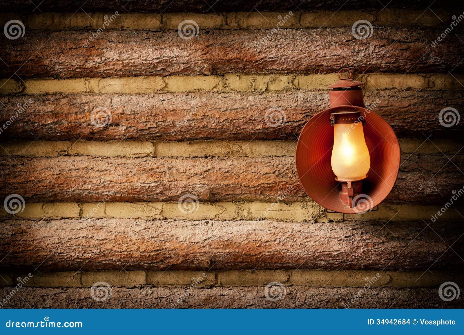 Log Cabin With Lantern Stock Images Image 34942684