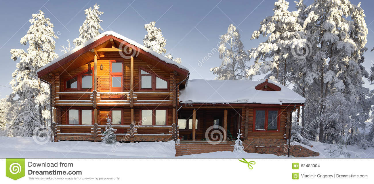 log cabin with large windows balcony and porch modern. Black Bedroom Furniture Sets. Home Design Ideas