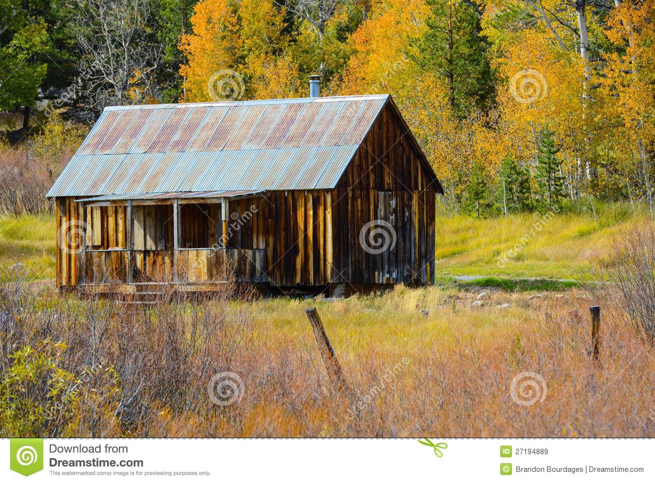 Log Cabin In The Mountains Royalty Free Stock Images