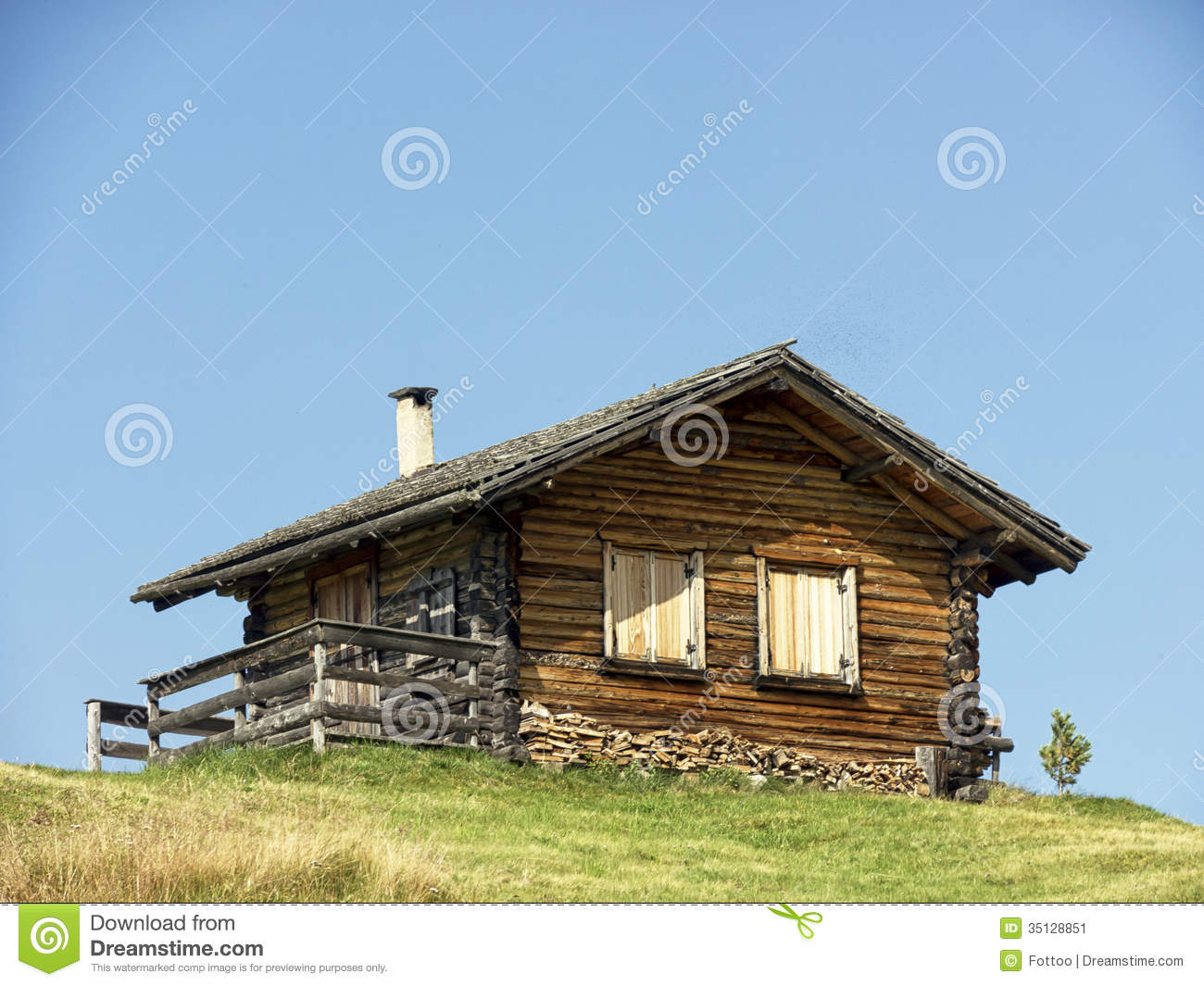Log Cabin Stock Image Image 35128851