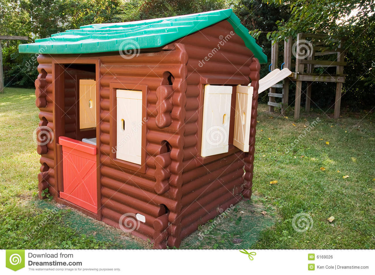 Log Cabin Playhouse Stock Photo Image Of Pretending Structure