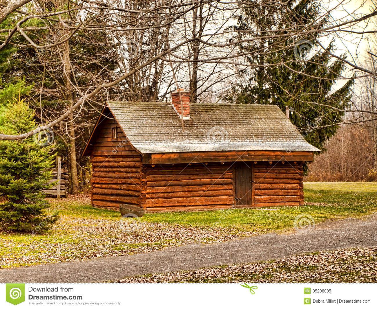 Log cabin stock image image of outdoor nature cottage for Simple log cabins