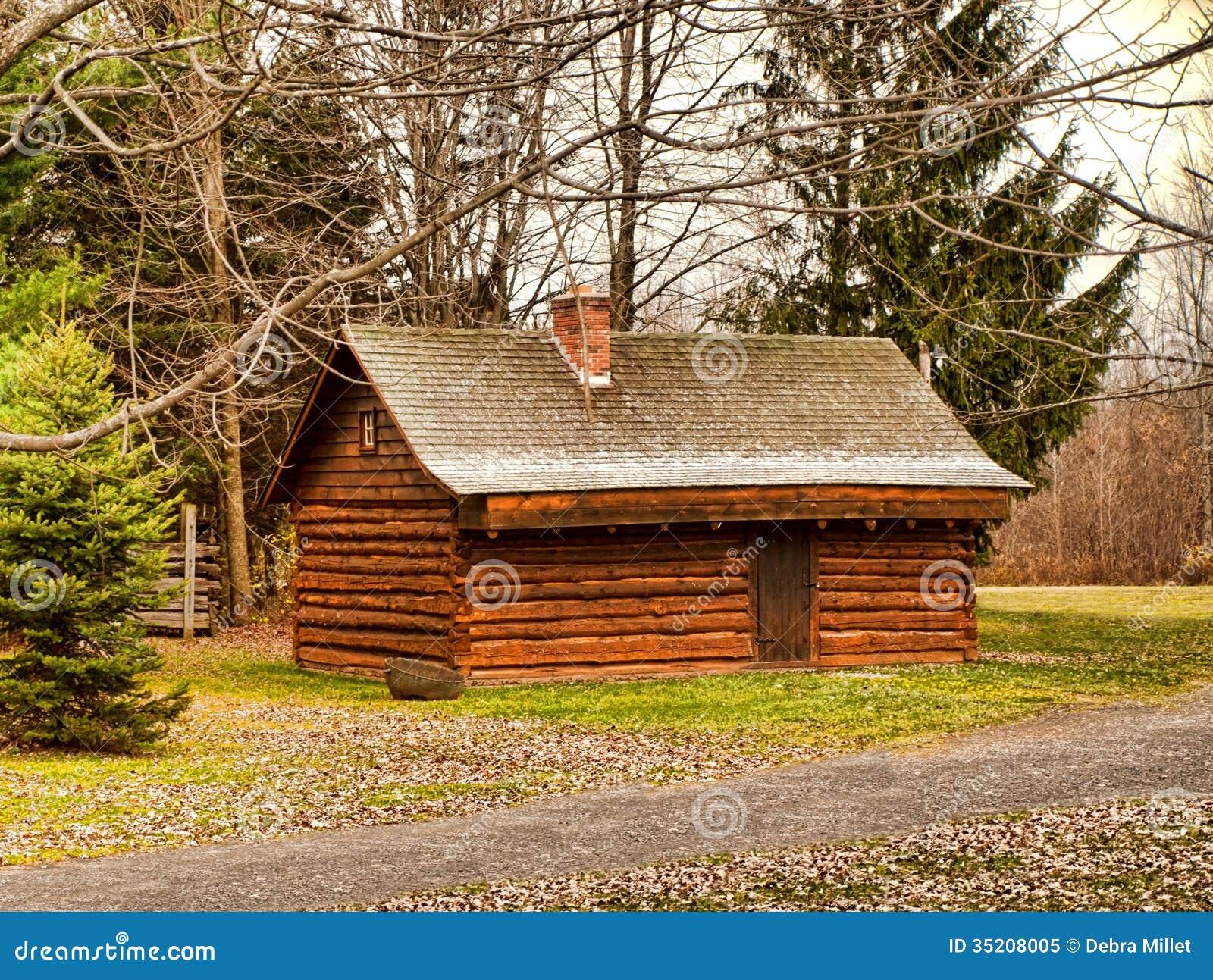 Log Cabin Royalty Free Stock Photo Image 35208005