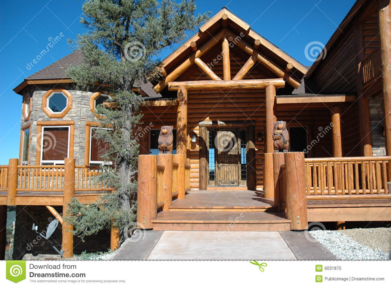 Mobile Home Log Cabins Log Cabin Style Home Royalty Free Stock Photo Image 6031875