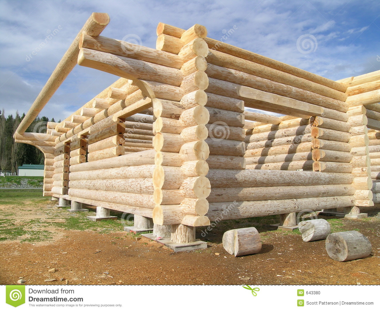 Log Cabin Under Construction Stock Photo Image 643380
