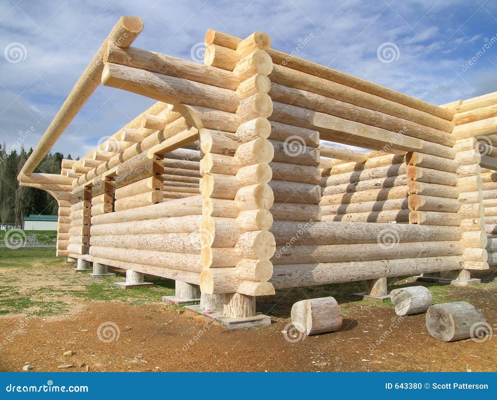 Alaska Cabin Floor Plans Log Cabin Under Construction Stock Photo Image 643380