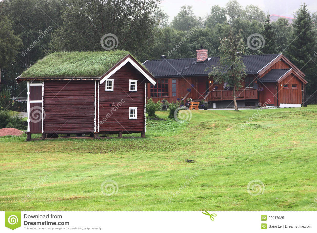 Log Cabin Royalty Free Stock Photo Image 30017025