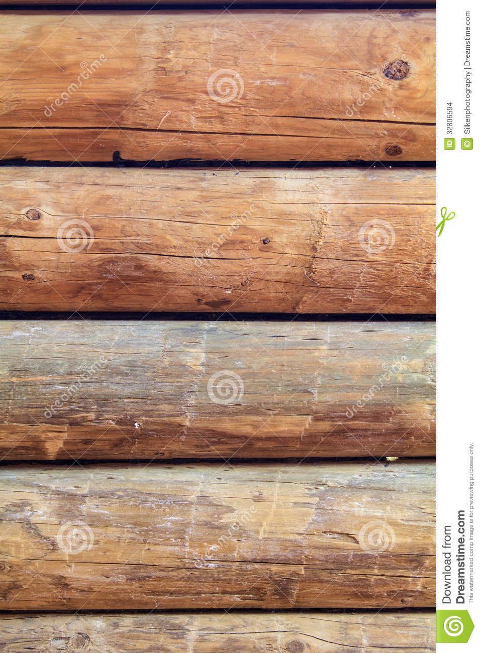 Log cabin wall vertical stock photo image of nature