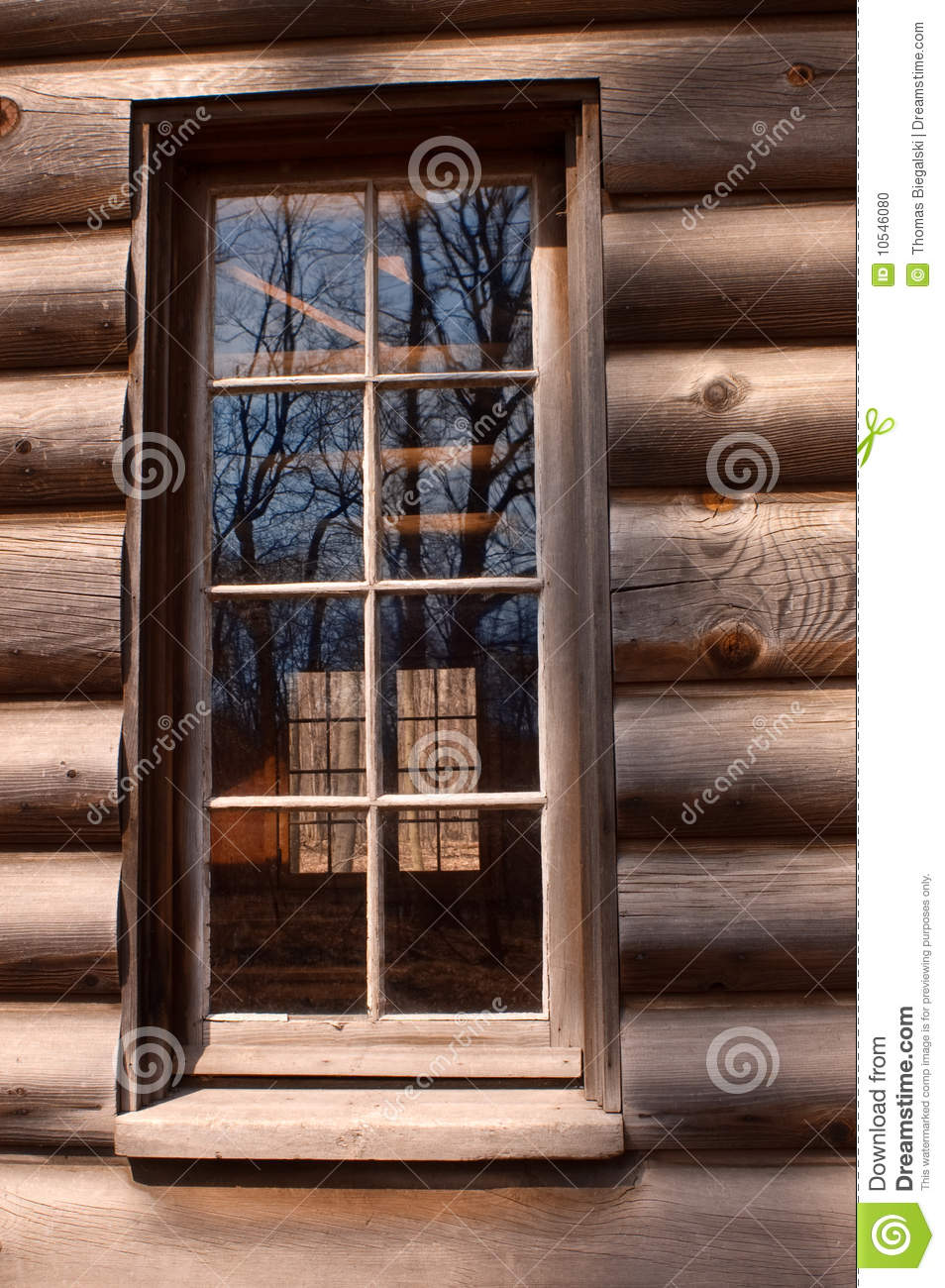 Log Cabin Window Stock Photo Image 10546080