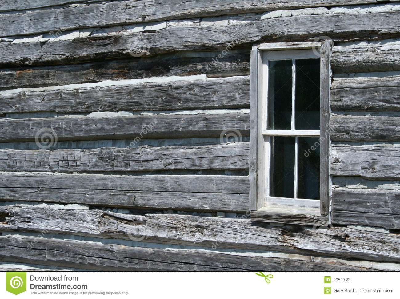 Log Cabin Window Stock Photos Image 2951723