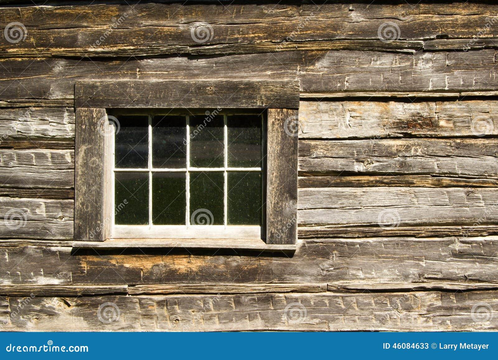 Log cabin window stock image image of history window for Log cabin window