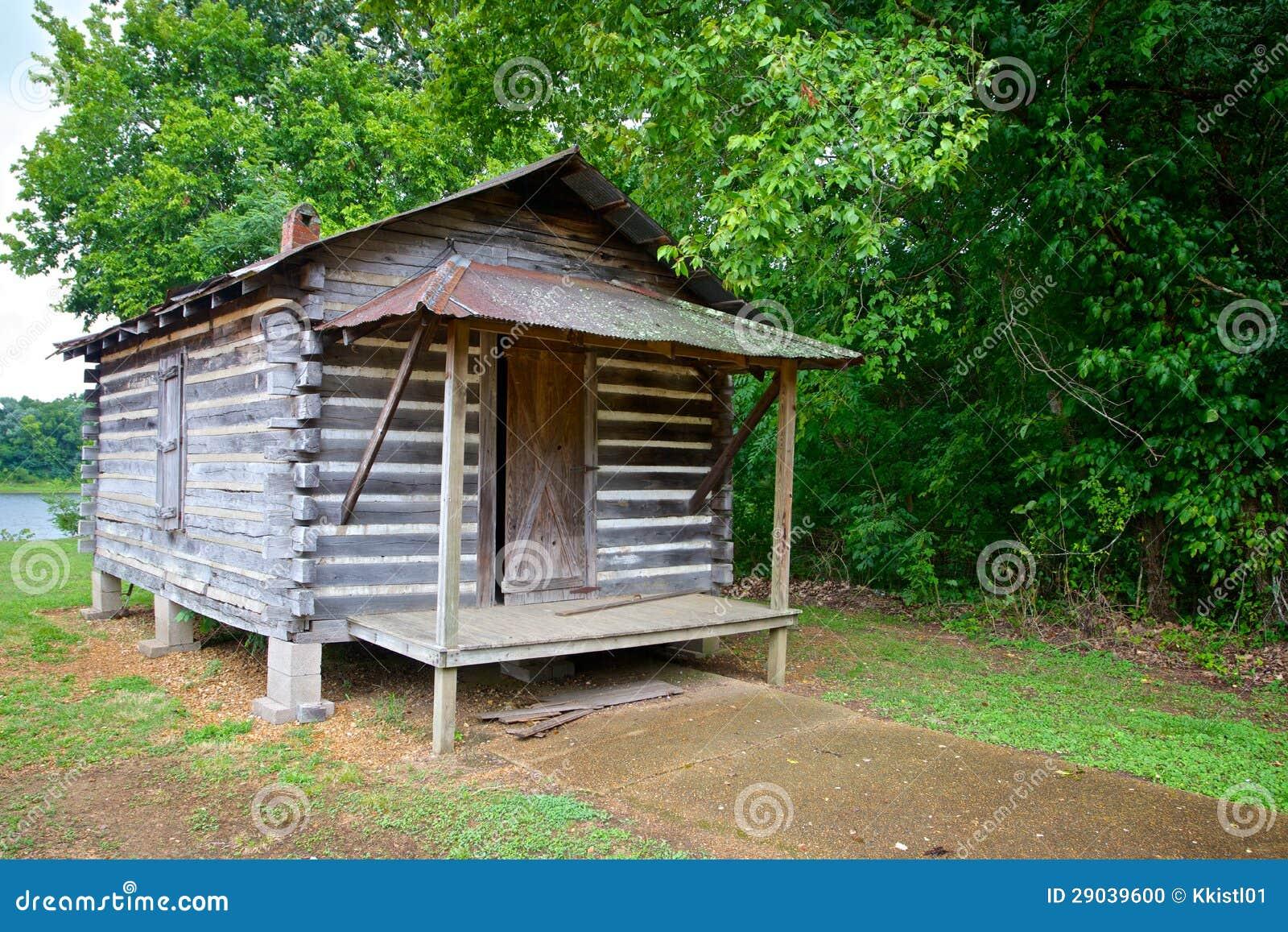 Log Cabin On Wood 39 S Edge Stock Photo Image Of Battlefield