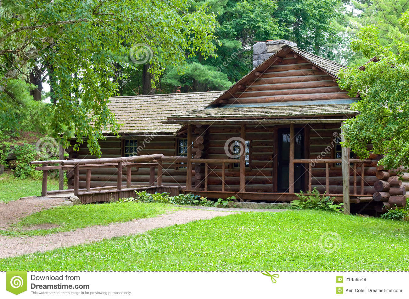 Log Cabin In The Woods ~ Log cabin in woods stock image of sturdy building