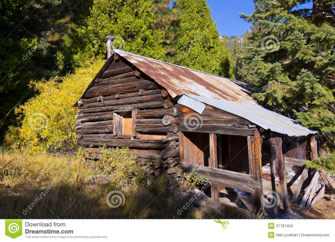Log Cabin Woods Stock Images Image 21781404
