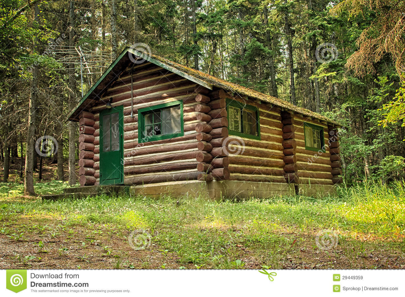Log Cabin In The Woods Royalty Free Stock Images Image