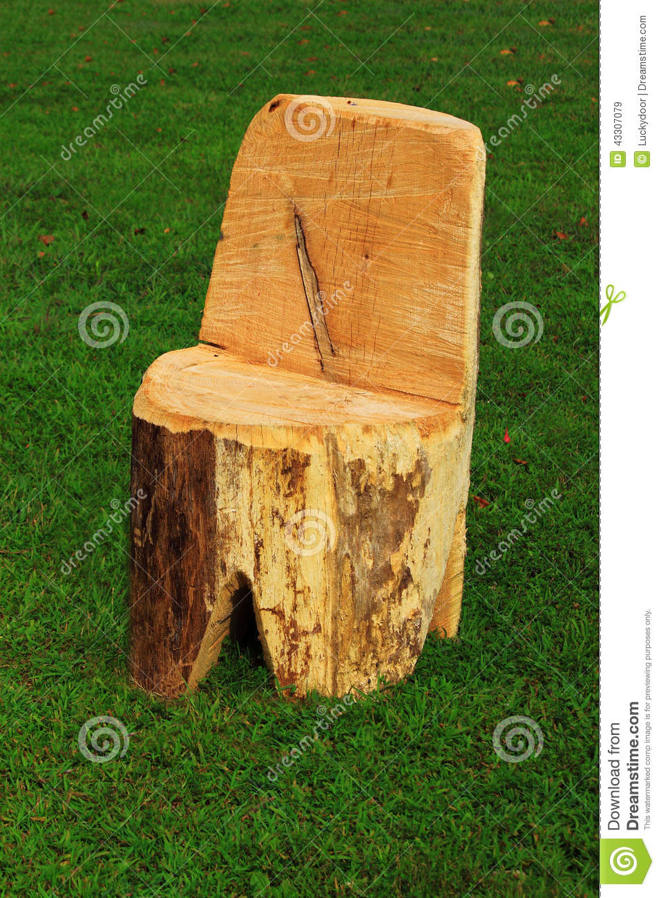 log chair stock image image of save whole tree piece 43307079. Black Bedroom Furniture Sets. Home Design Ideas