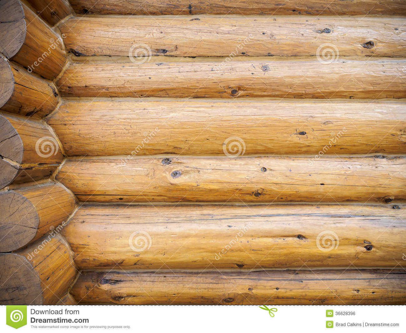 Log home background stock photo image of wood wall