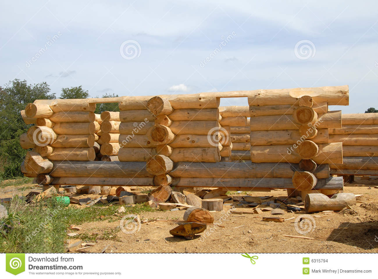 Log home construction stock images image 6315794 for Log construction