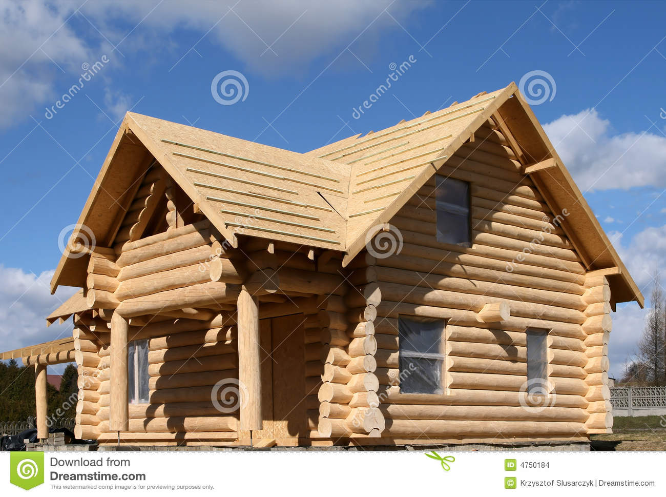 Log House Stock Photo Image Of Wooden Estate Housing