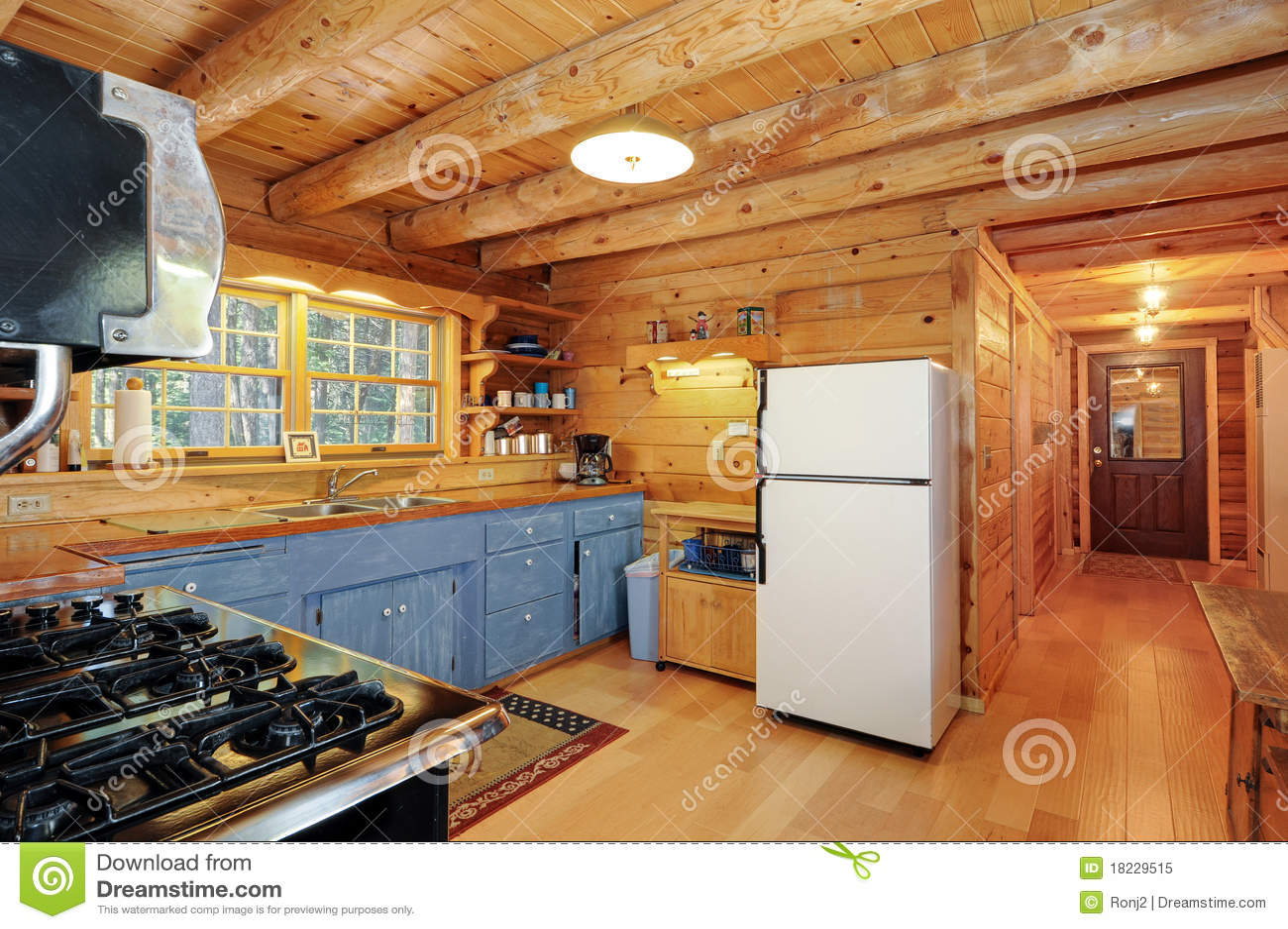 Log House Kitchen Royalty Free Stock Photo Image 18229515