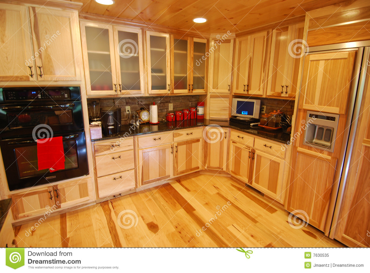 Log House Kitchen Interior Stock Image Image Of Kitchen 7630535