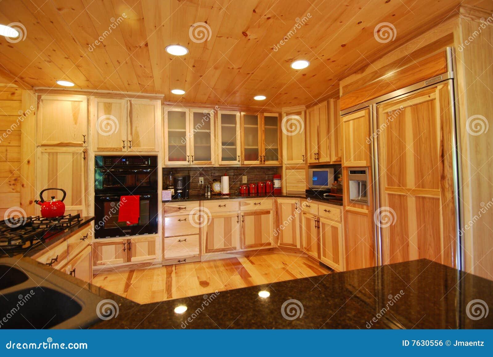 Log House Kitchen Interior Royalty Free Stock Image