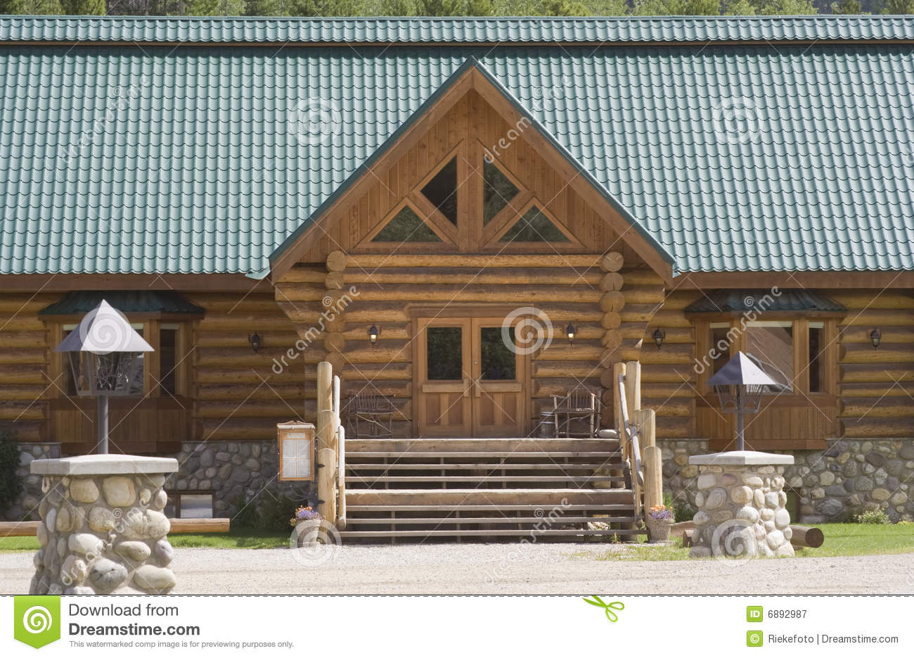 Log And Stone Cabin In Canada Royalty Free Stock