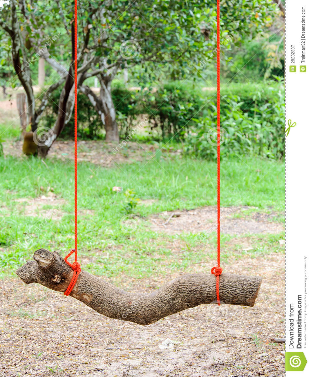 Log swing stock image image of object playground cross for Log swing plans