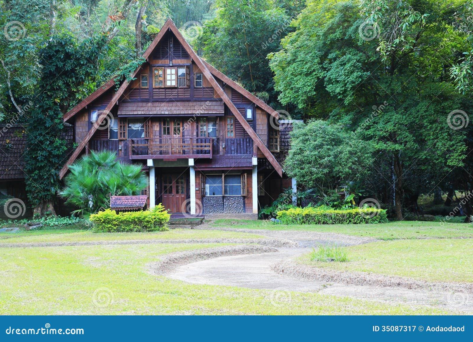 Log Wood House Royalty Free Stock Photography Image