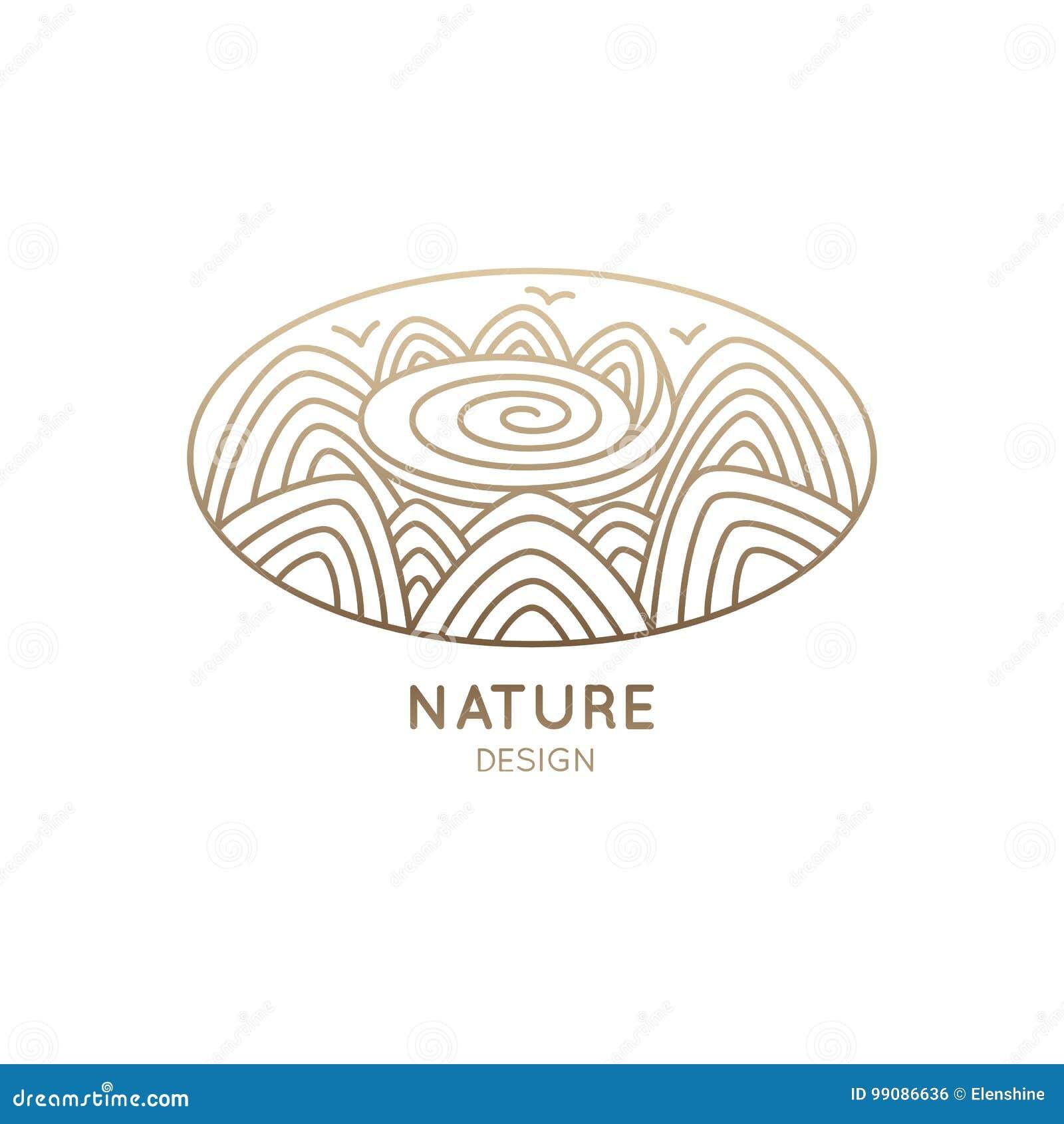 Loga owalu natura