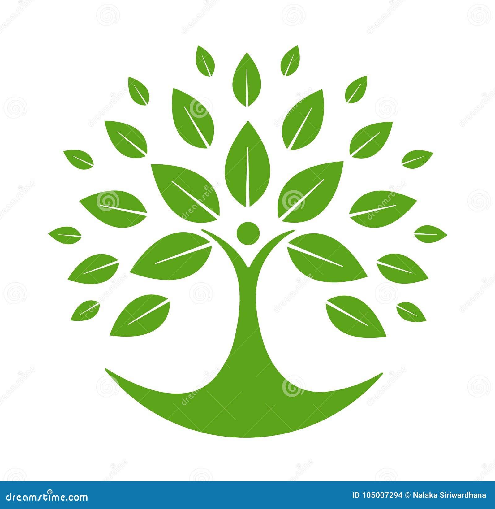 Loga zielony drzewo