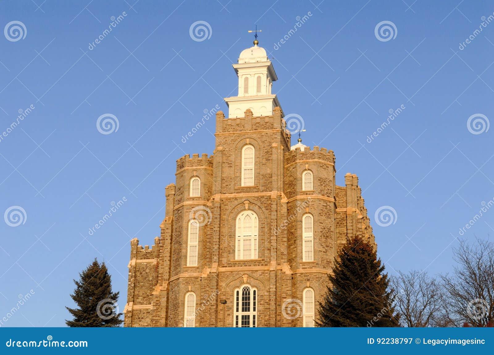 Logan Utah Temple da igreja de mórmon