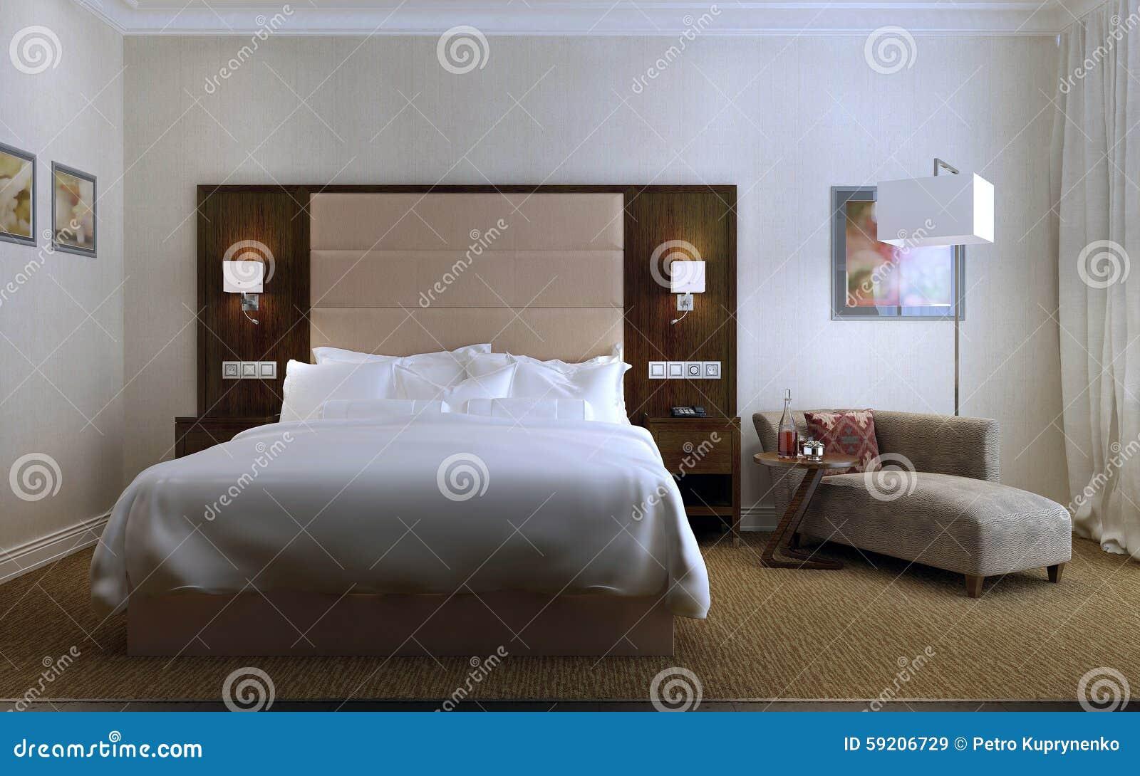 Logeerkamer eigentijdse stijl stock illustratie afbeelding 59206729 - Eigentijdse stijl slaapkamer ...