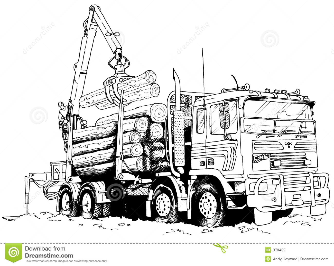 logging truck stock photography image 970402