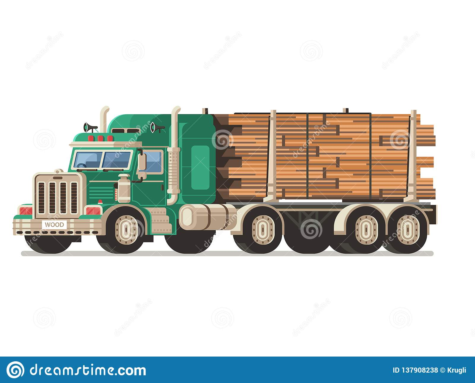 Truck Timber Stock Illustrations 706 Truck Timber Stock
