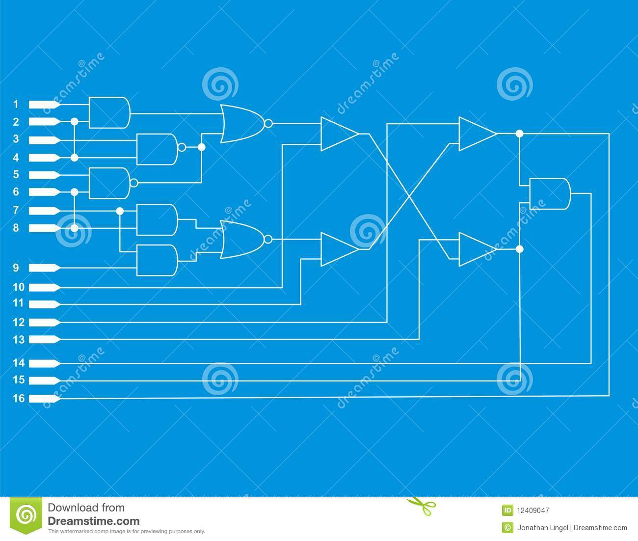 Logic diagram stock illustration. Illustration of diagram - 12409047