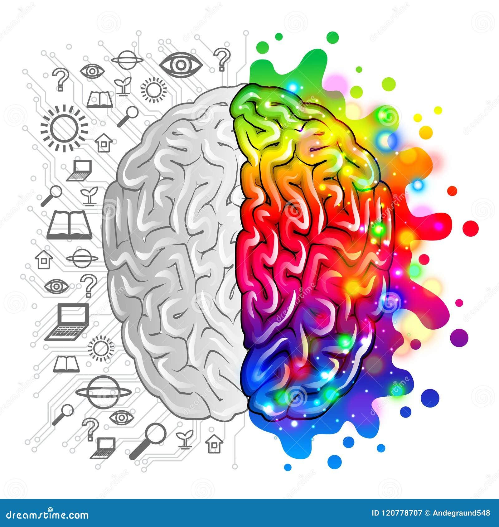 Logica di concetto del cervello umano e vettore creativo