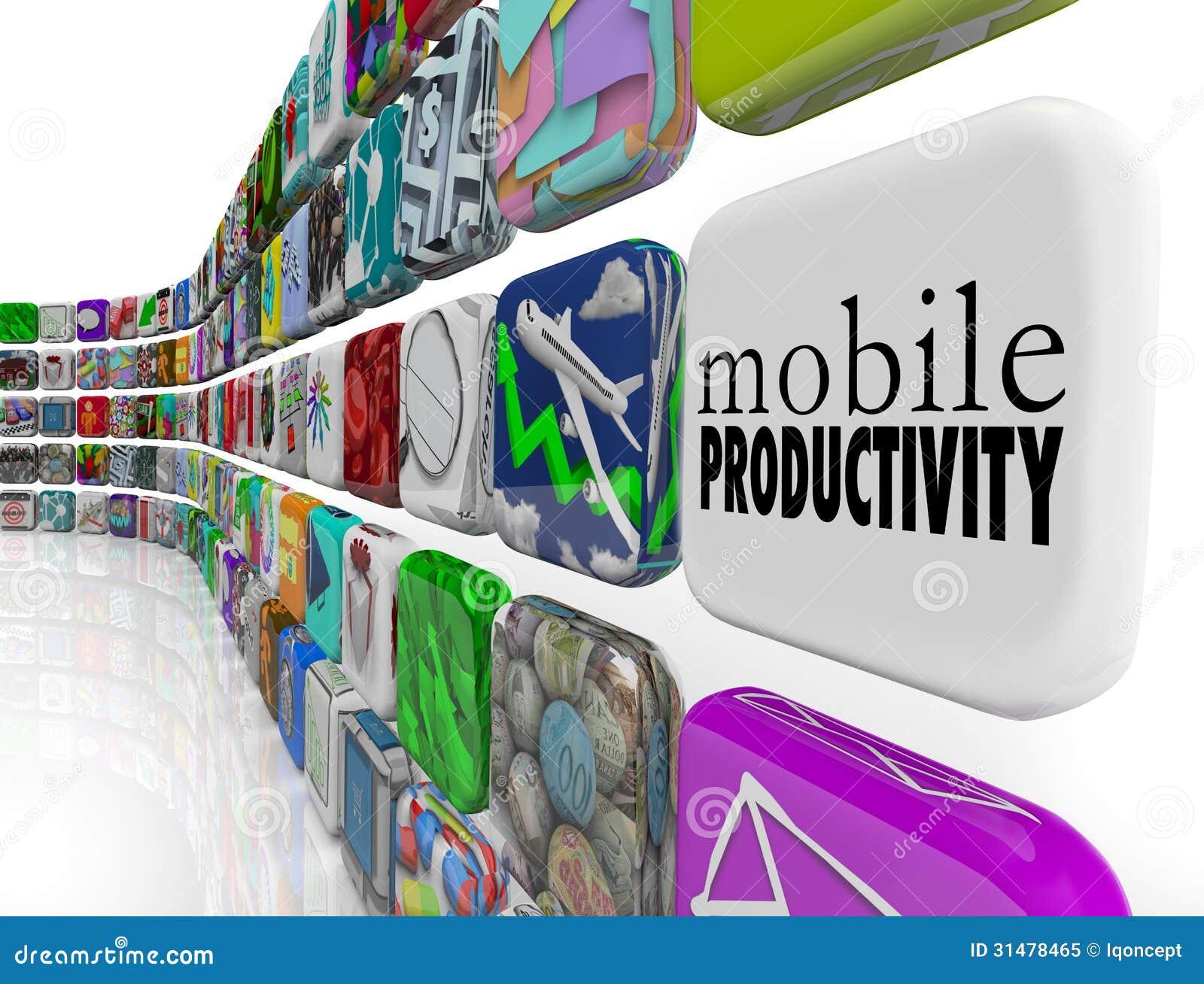 Logiciel mobile d Apps de productivité fonctionnant à distance sur l aller