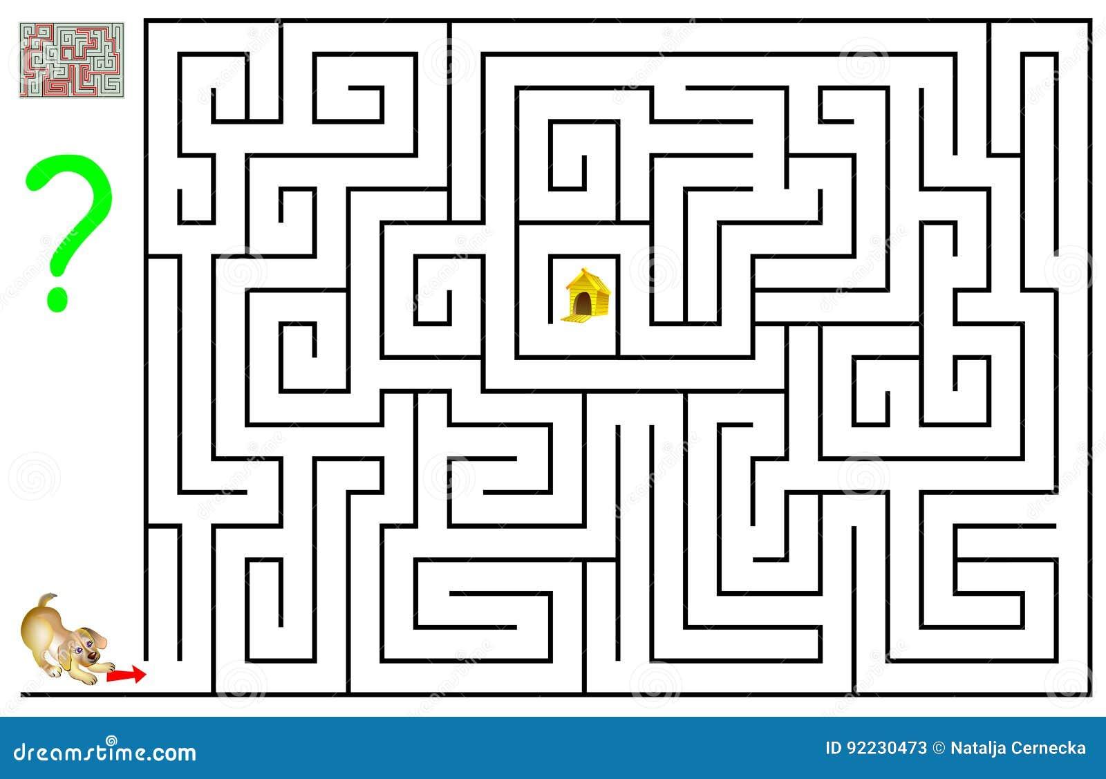 Logikrätselspiel Mit Labyrinth Für Kinder Und Erwachsene Müssen Sie ...
