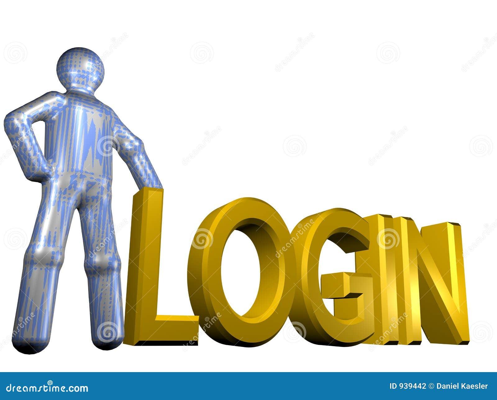 Login 3d Stock Photography Image 939442