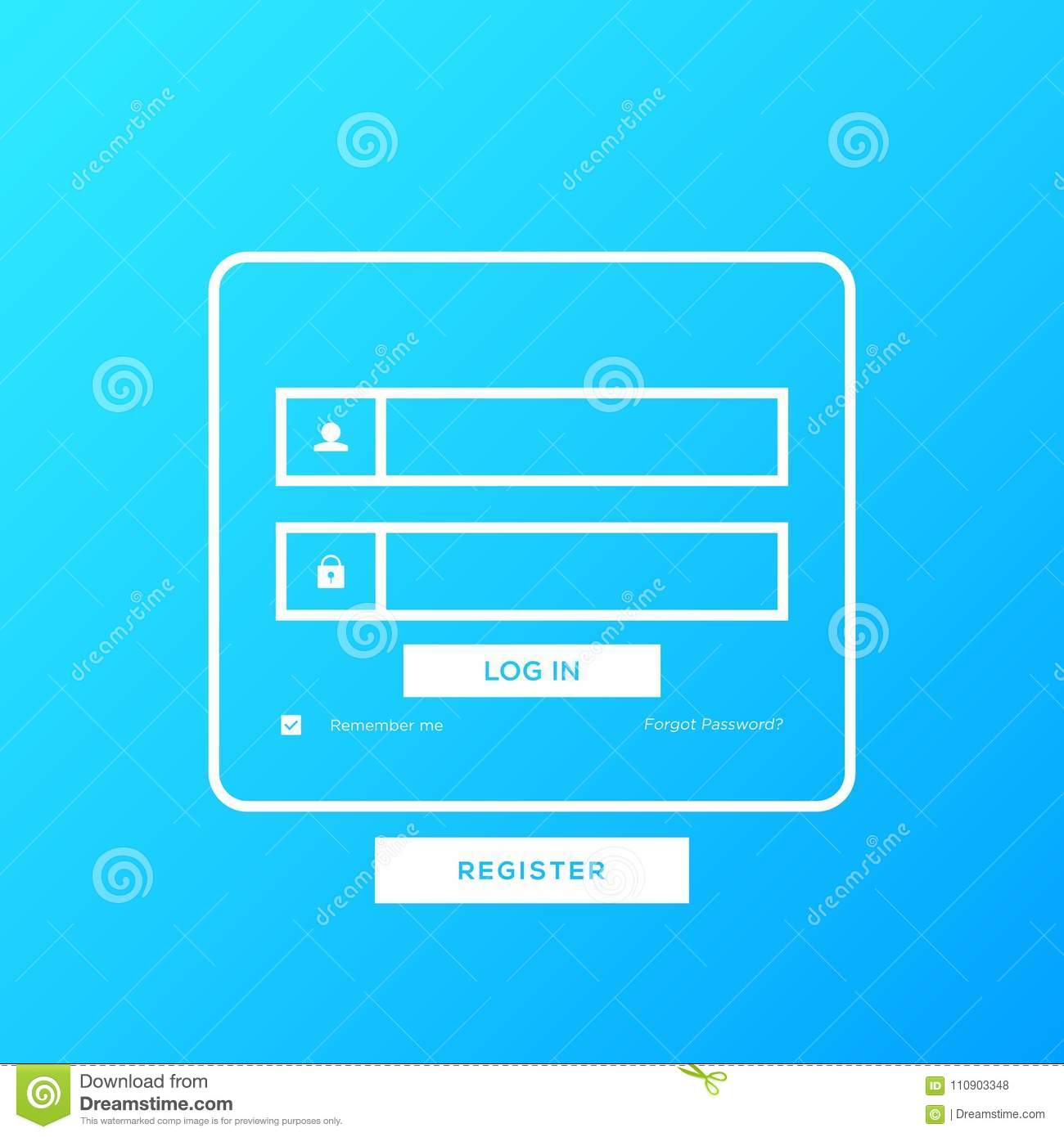 Login Design Template Vector Can Be Edited As Needed Stock