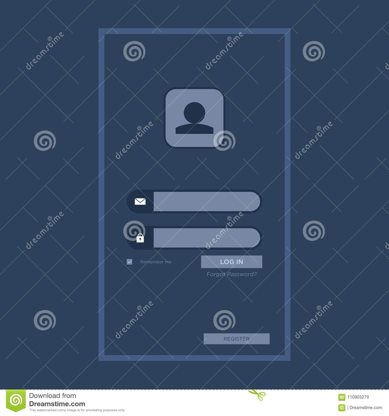 Login design template vector can be edited as needed stock user interface login design template vector can be edited as needed maxwellsz