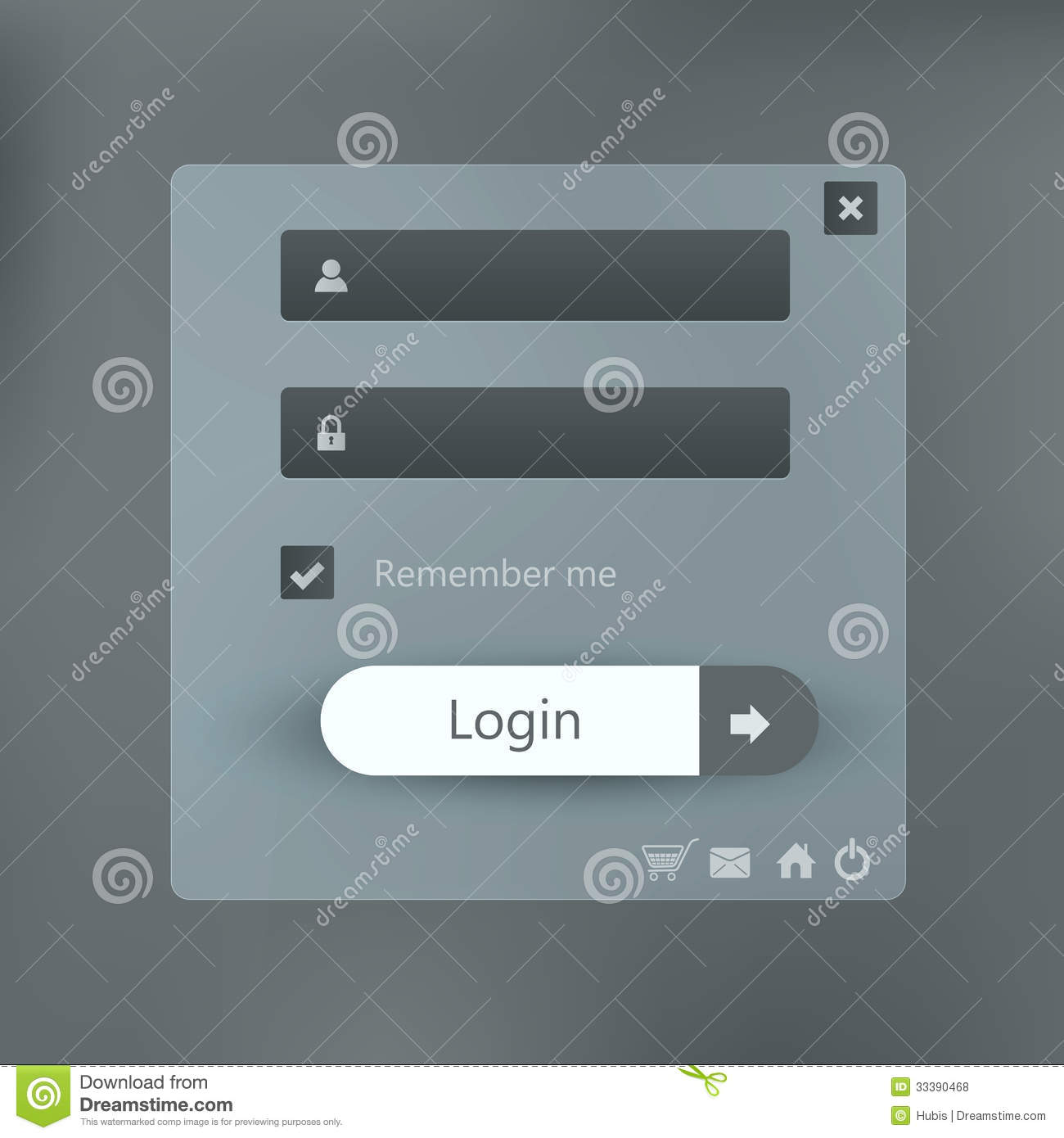 login form page background stock vector  image of frame