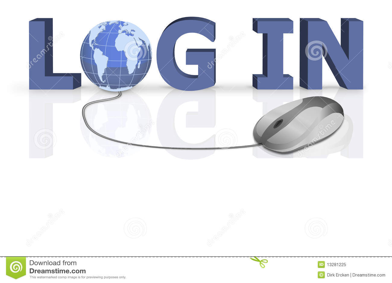 Login Logon Open Your Website On Www Stock Illustration ...