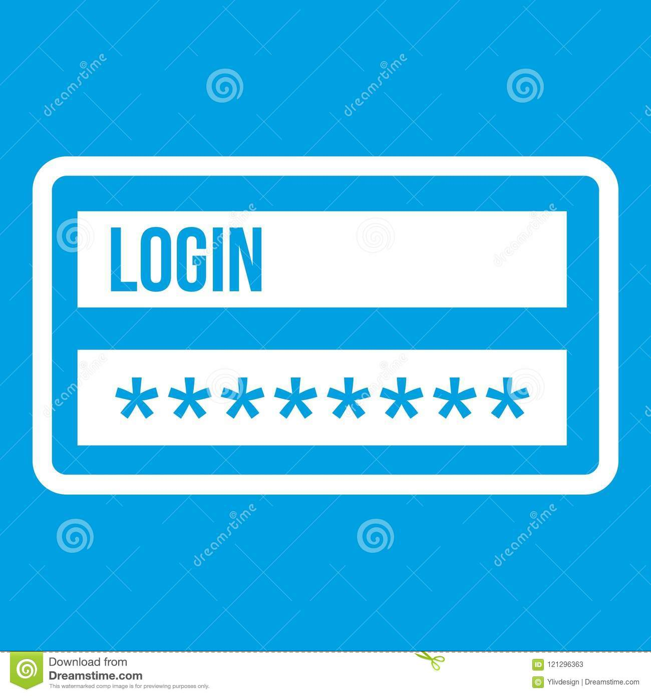 Login And Password Icon White Stock Vector - Illustration of