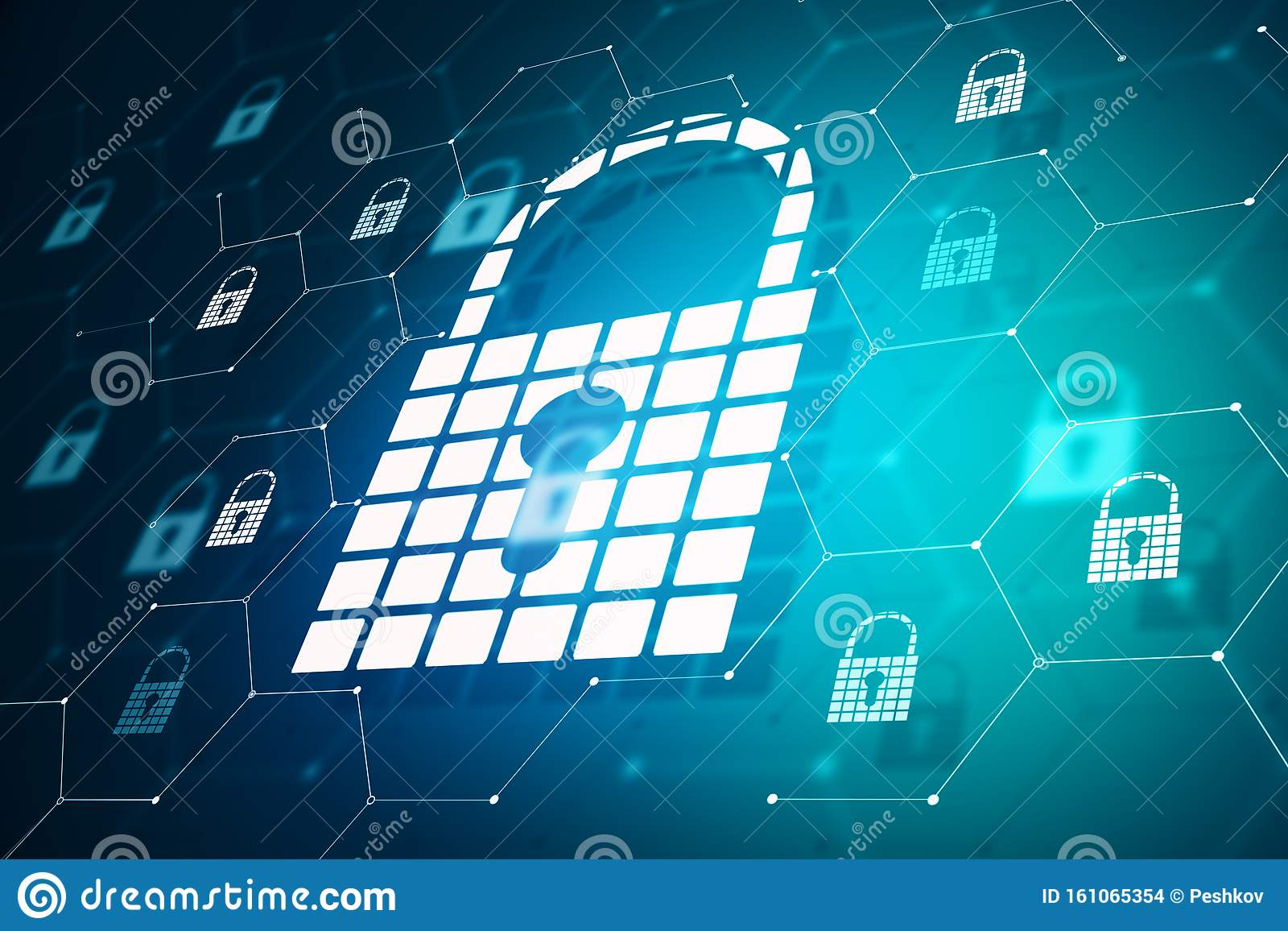 Login And Protection Padlock Wallpaper Stock Illustration
